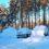 Lumityöt talojen paikoitusalueilla